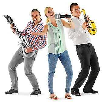 Inflatable band 3-piece guitar microphone inflatable saxophone band