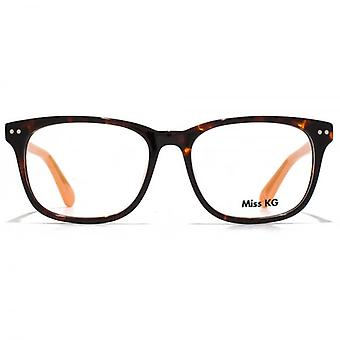 Miss KG Rectangle Glasses In Tortoiseshell