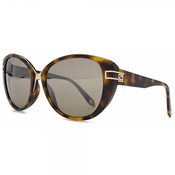 Givenchy Metal Bridge Cateye Sunglasses In Havana Gold