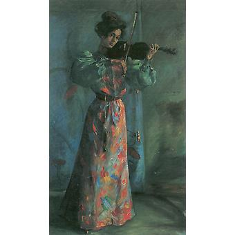 Lovis Corinth - Woman with Violin Poster Print Giclee