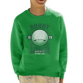Robot Depreciation Society Hitchhikers Guide Kid's Sweatshirt