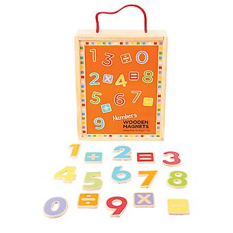 Bigjigs Toys Educational Wooden Magnetic Numbers and Symbols