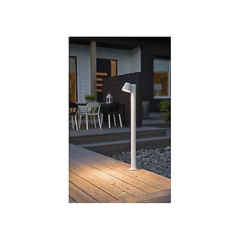 Konstsmide Trieste White Saucer Down Bollard Post Spotlight