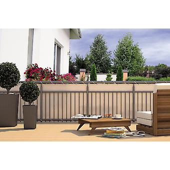 Balcony privacy balcony cladding cream 24 m cord dimensions: 600 x 90 cm polyester