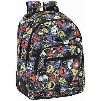Safta Day Pack Doble Adaptable Carro Blackfit8 Monsters (Toys , School Zone , Backpacks)