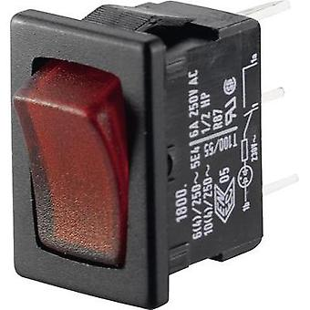 Toggle switch 250 Vac 6 A 1 x Off/On Marquardt 018