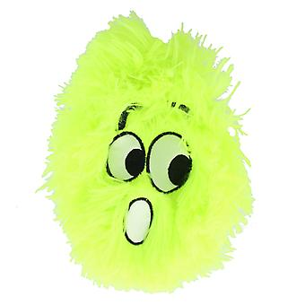 Children's 9 Inch Inflatable Neon Lime Green Shocked Face Furry Ball With Eyes