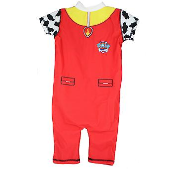 Paw Patrol Marshall Boys 50+ UV Protection Swimming Suit Costume