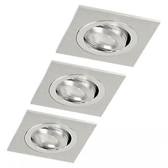 Ranex LED Downlight 3 W 2700 K Rectangular Brushed Aluminium