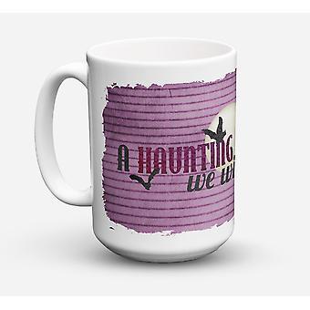 A Haunting we will go Halloween Dishwasher Safe Microwavable Ceramic Coffee Mug