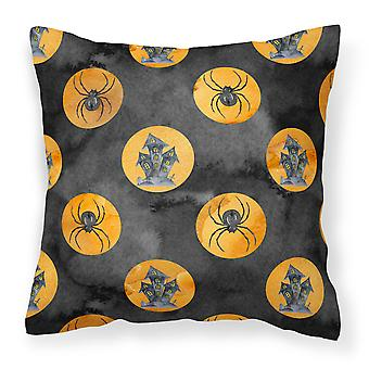 Watecolor Halloween Circles Fabric Decorative Pillow