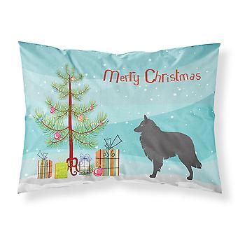 Groenendael Belgische herder kerst stof standaard kussensloop