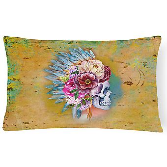 Dzień zmarłych kwiaty czaszki płótnie tkaniny dekoracyjne poduszki