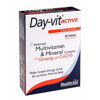 Health Aid Day-vit ACTIVE (MVM with Ginseng & CoQ10) - Blister Pack ,  30 Tablets