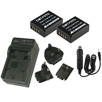 Dot.Foto Fujifilm NP-W126 - 7.2v / 1260mAh Battery (2-Pack) and Battery Travel Charger