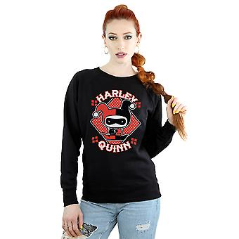 DC Comics Women's Chibi Harley Quinn Badge Sweatshirt