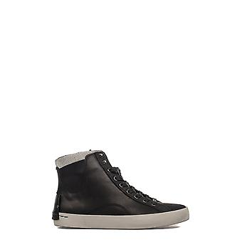 Crime London Damen 25002A17B20 Grau/Schwarz Leder Hi Top Sneakers
