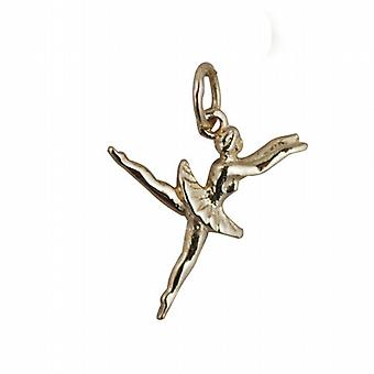 9ct Gold 20x15mm Ballet Dancer Pendant or Charm