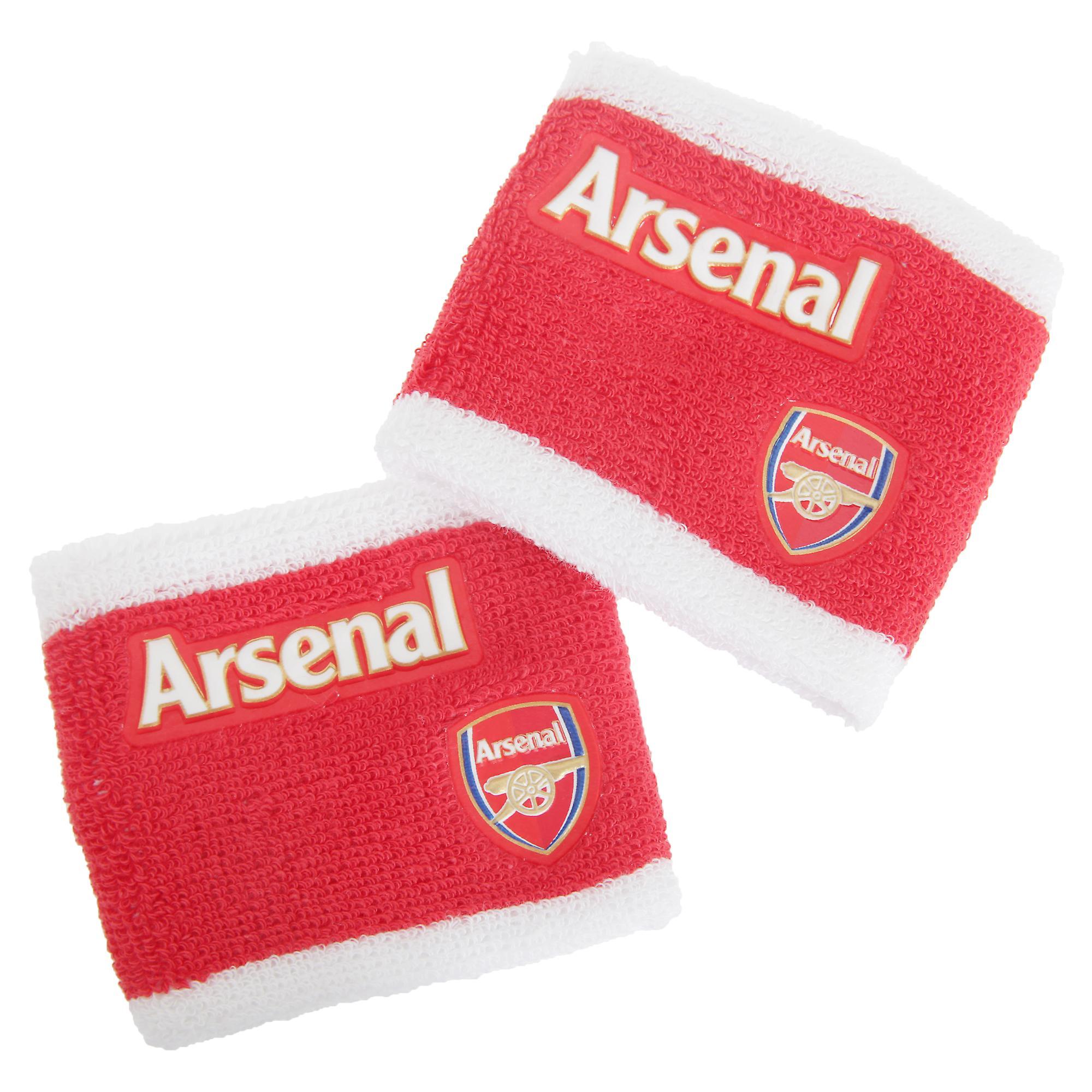 Arsenal FC officiële 2 Tone Athletic Football Crest Sport polsbandjes (Pack van 2)