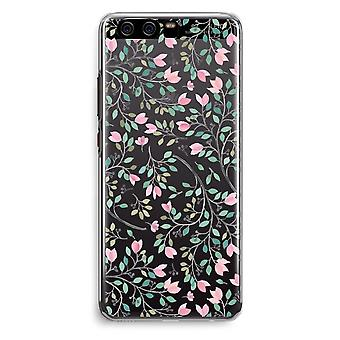 Huawei P10 Transparent Cover - Dainty flowers