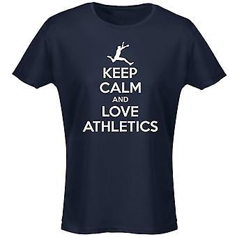 Mantener la calma y amor atletismo mujeres camiseta 8 colores (8-20) por swagwear