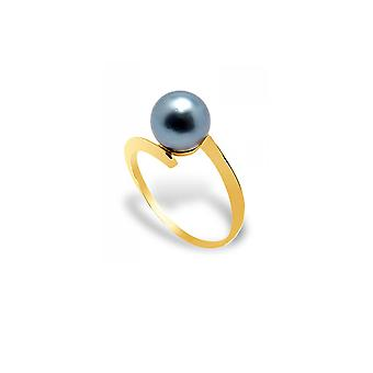 Ring ring Tahitian Pearl and yellow gold 375/1000