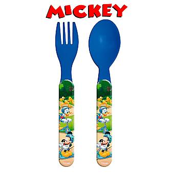 Import Mickey Set 2 Cubiertos Plástico