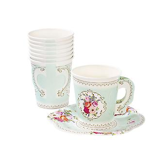 Talking Tables Truly Scrumptious Teacup & Saucer Set x 12