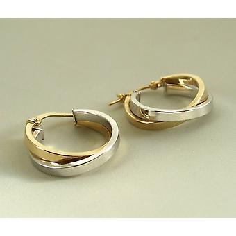 Gouden bicolor oorbellen