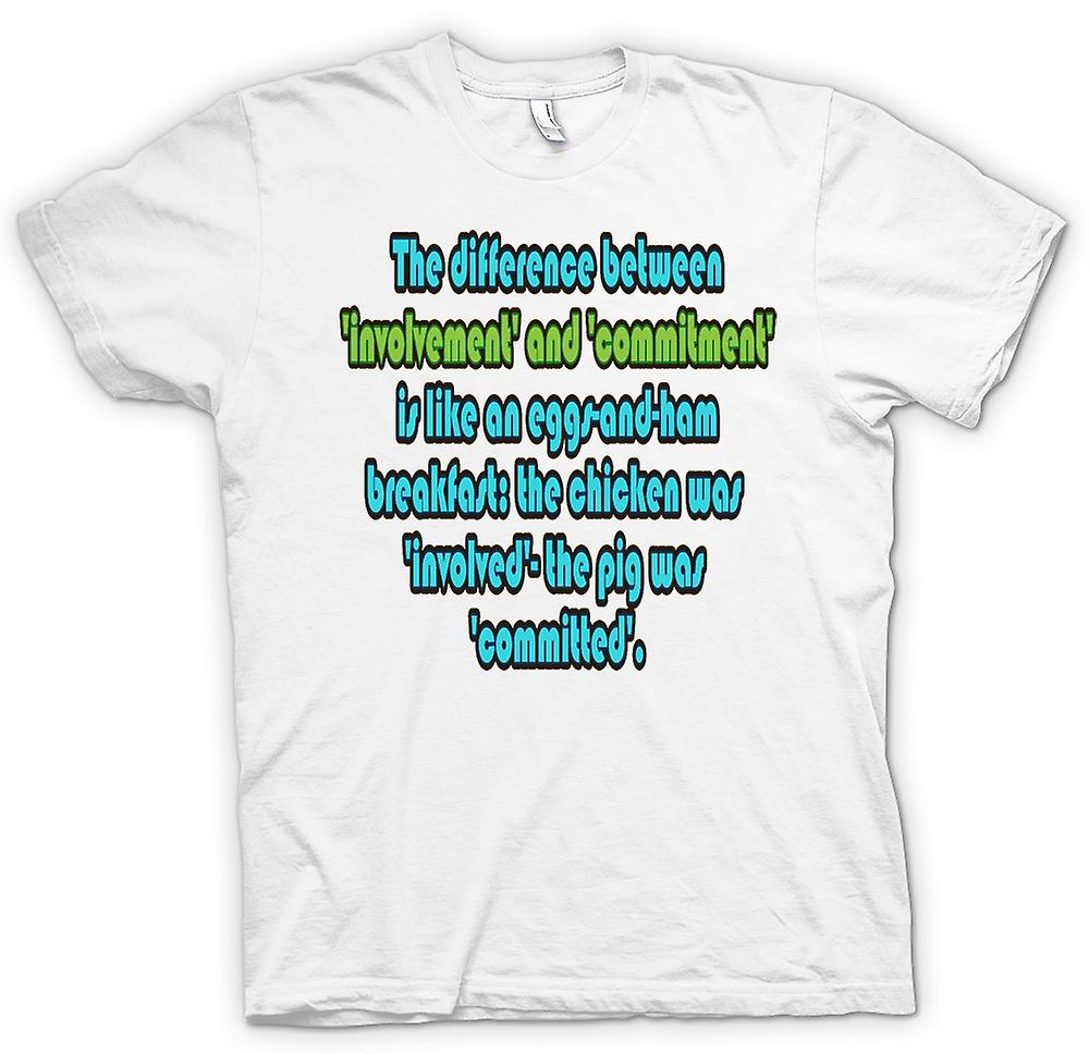 Womens T-shirt - Involvement & Commitment Quote - Martina Navratilova
