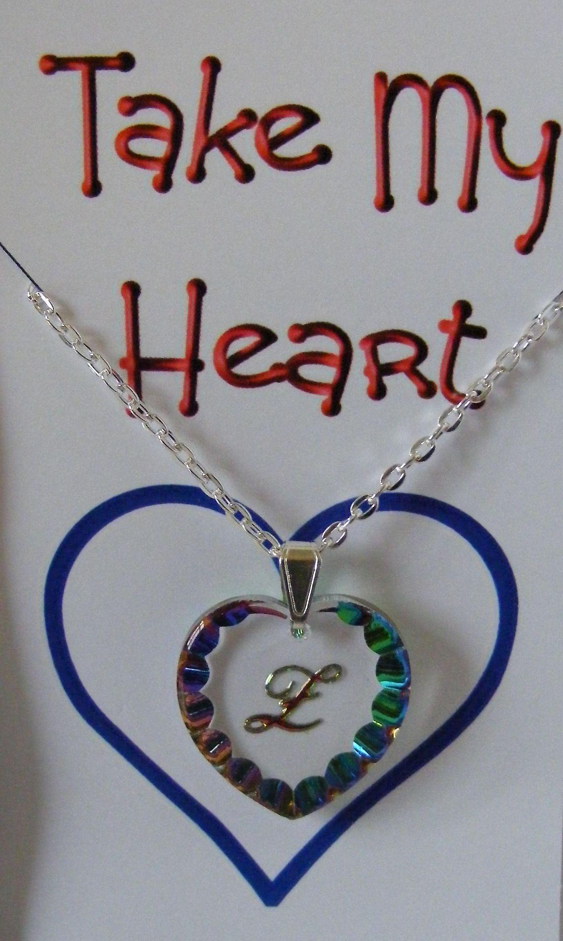 Heliotrope Initial Heart Crystal Pendant - Z