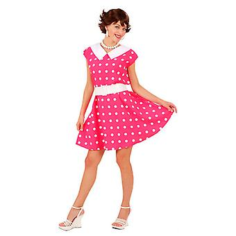 años 50 Vestido de la señora y la banda - rosa