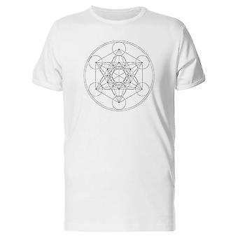 Metatron Cube Outline Tee Men's -Image by Shutterstock