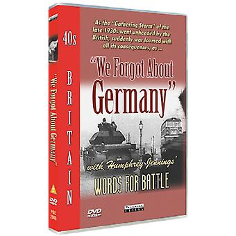 We Forgot About Germany DVD