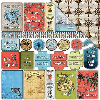 Scrapberry's The Pirate's Treasure Dbl-Sided Cardstock 12X12-Pirate Treasure Tags