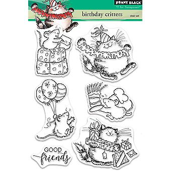 Penny Black Clear Stamps-Birthday Critters