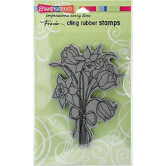 Stampendous Cling Stamp -Daffodil Bunch