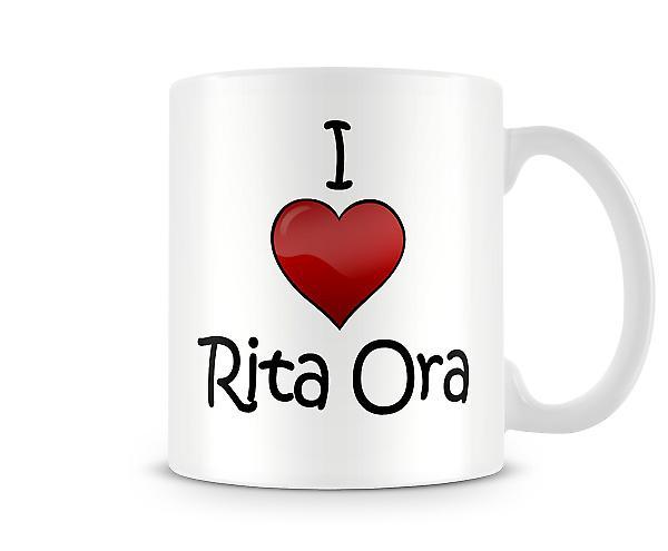 Jag älskar Rita Ora tryckta mugg