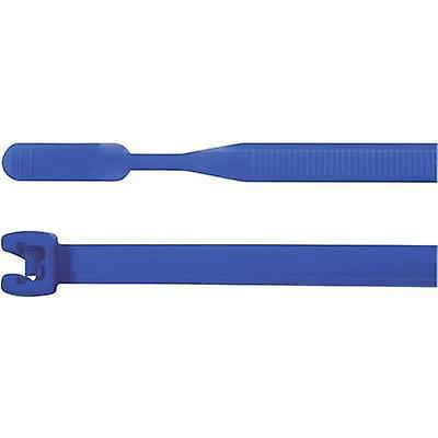 HellermannTyton 109-00147 Q18R-PA66-BU-C1 Cable tie 105 mm Blue Open end 100 pc(s)