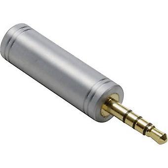 Adaptador de Jack Audio/RCA electrónica 1103098 BKL [1 x conector Jack 3,5 mm - 1 x conector Jack 3,5 mm] oro