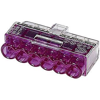 柔軟な HellermannTyton 148 90040 コネクタ クリップ: 1 〜 2.5 mm ² 剛: 0.5 2.5 mm ² ピン数: 6 1 pc(s) バイオレット