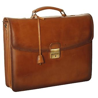 Ashwood Dorchester Orlando Leather Single Lock Briefcase