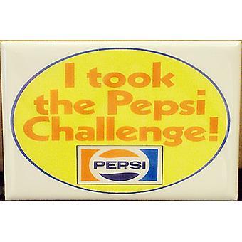 I Took The Pepsi Challenge Steel Fridge Magnet