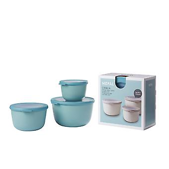 Rosti Mepal Cirqula Multi Bowl 3 Piece Set Large, Nordic Green