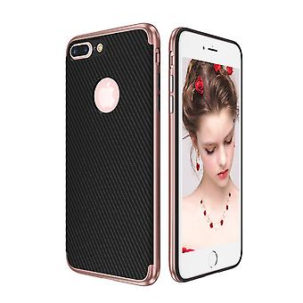 Hybrid silicone Silicon skin case cover for Apple iPhone 8 plus case cover bag pink