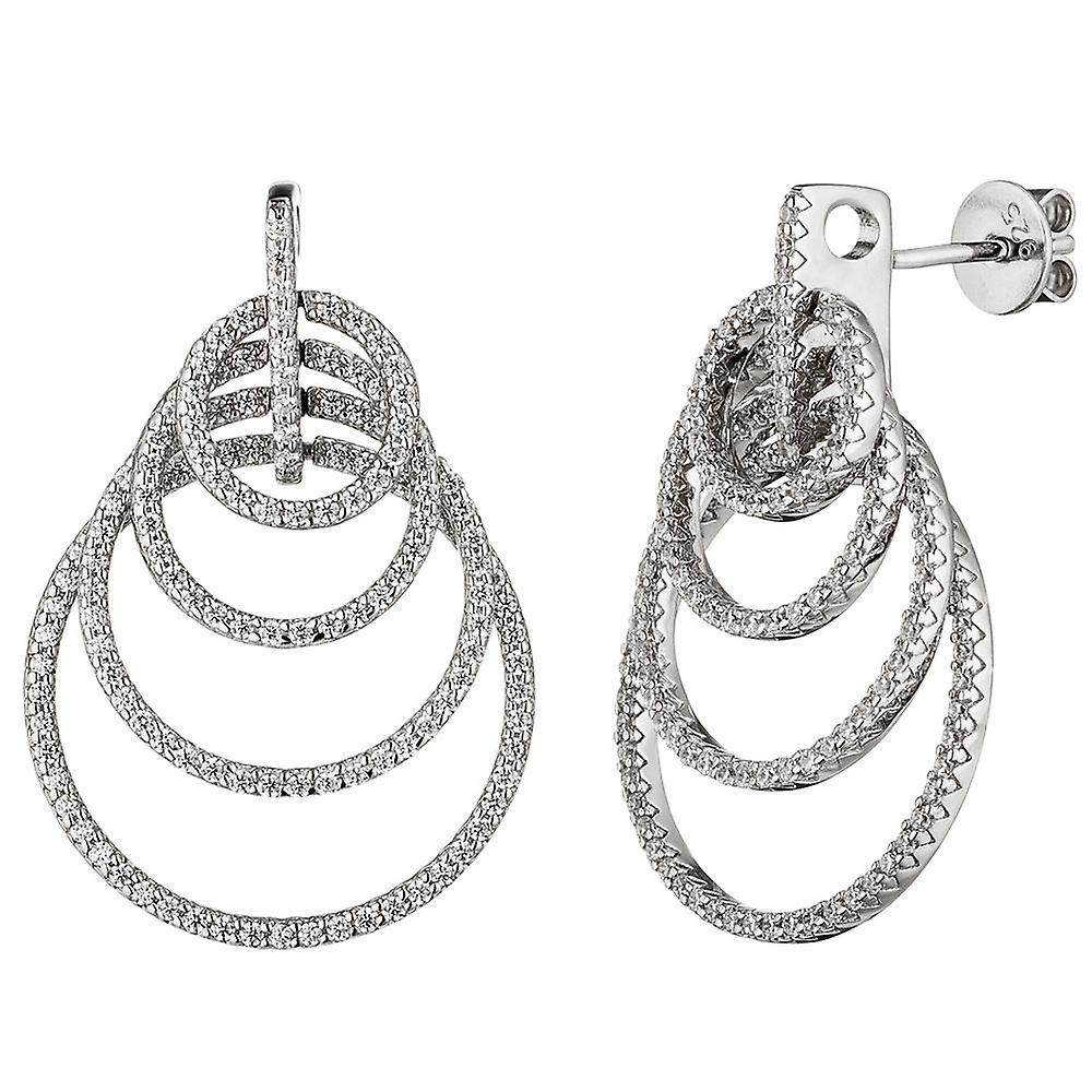 boucles d'oreilles 925 Sterling argent mit Zirkonia Ohrbaguee Ohrstecker argenthrbaguee