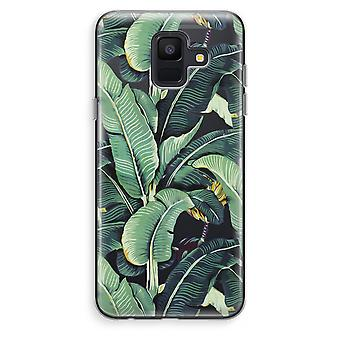 Samsung Galaxy A6 (2018) Transparent Case (Soft) - Banana leaves