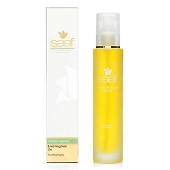 Saaf All Natural Organic Enriching Hair Oil: Rich in Zinc & Selenium