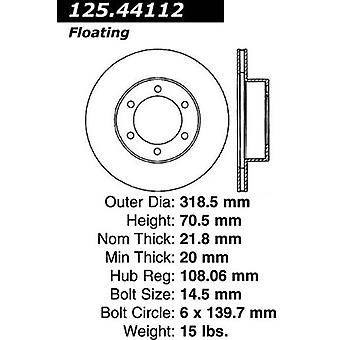 Centric Parts Disc Brake Rotor 125.44112