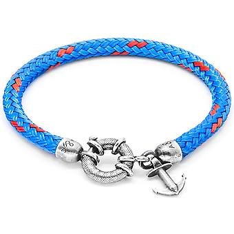Anchor and Crew Salcombe Silver and Rope Bracelet - Blue